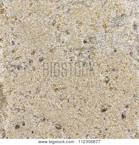 Beige Stone With Gold Patina