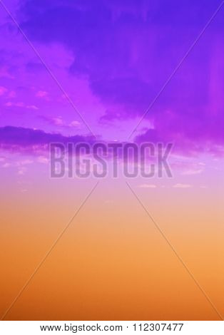 Sky With Clouds In Pastel Colors, Background, Texture