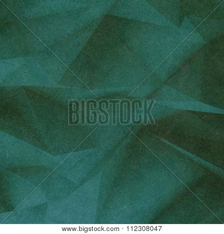 Abstract retro low poly background green soft color textured with small thin fiber