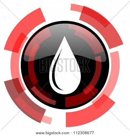 water drop red modern web icon