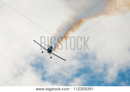 Stunt Plane Flying Towards Camera