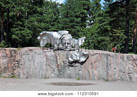 Monument to Finnish composer Jan Sibelius