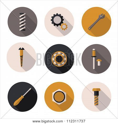 Best Flat Icons Fasteners
