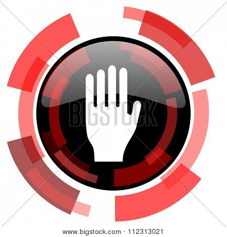 stop red modern web icon