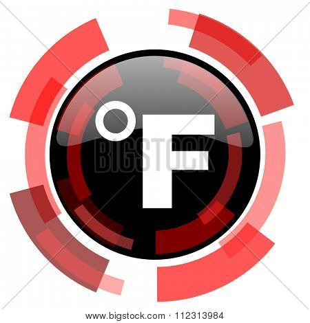 fahrenheit red modern web icon