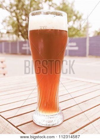 Retro Looking Weiss Beer