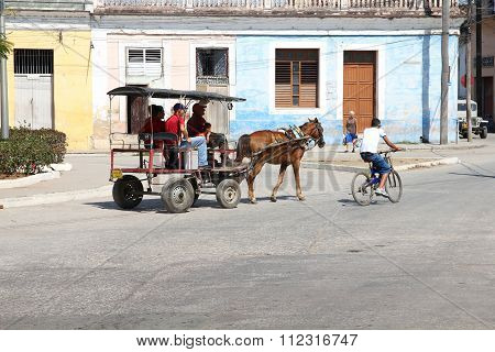 Horse Cart, Cuba