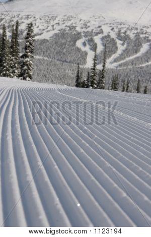 Groomed Ski Run