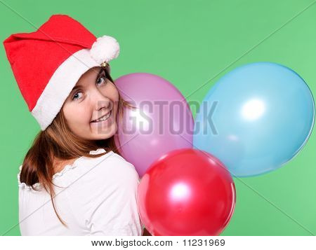Attractive young girl in New Year's Eve