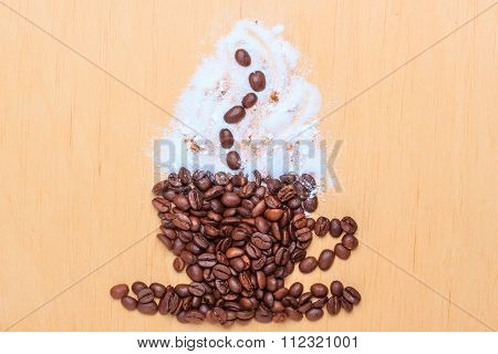 Coffee Cup Made From Roasted Beans