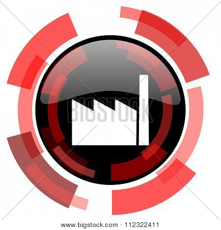 factory red modern web icon