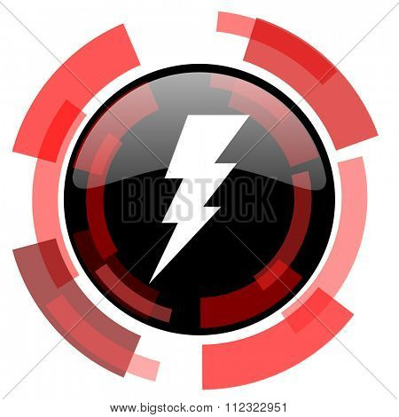 bolt red modern web icon
