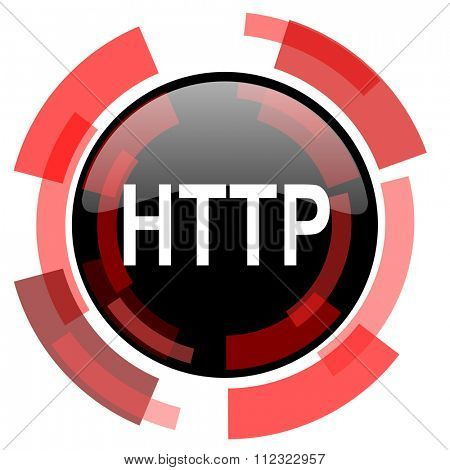 http red modern web icon
