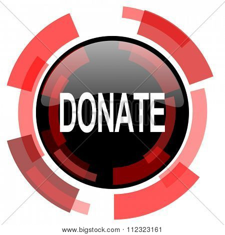 donate red modern web icon