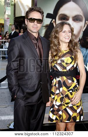 WESTWOOD, CALIFORNIA - July 21, 2009. Robert Downey Jr. and Susan Downey at the Los Angeles premiere of