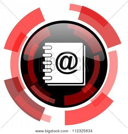 address book red modern web icon