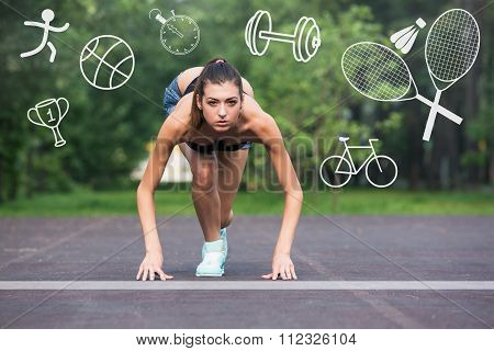 Fitness female runner