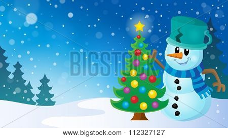 Christmas snowman theme image 8 - eps10 vector illustration.