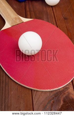 Ball Ping Pong On A Tennis Racket