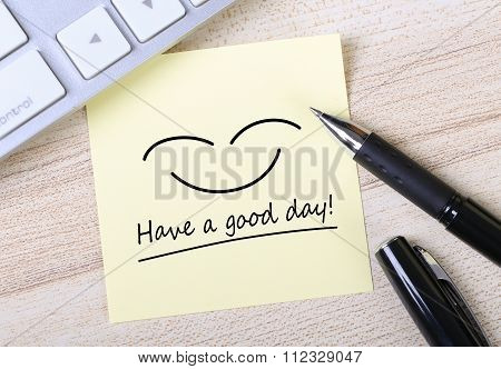 Have A Good Day Note