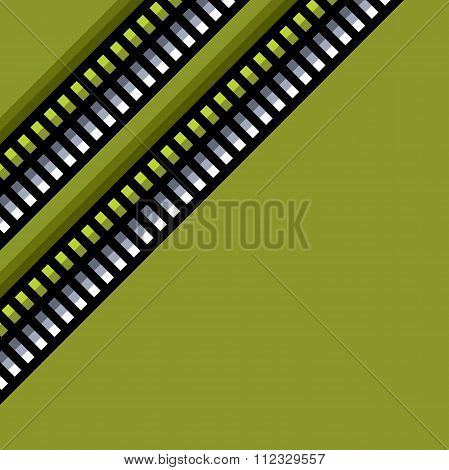 Steel Techno Tubes Pattern With An Green Backlight