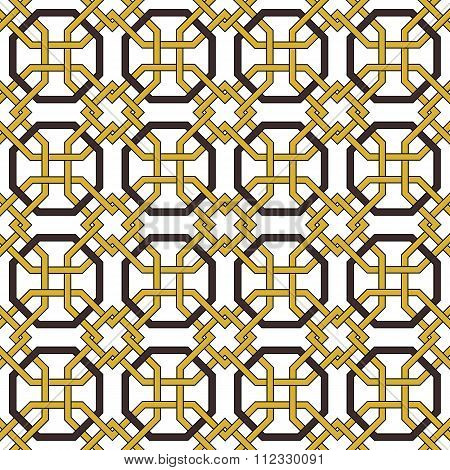 Seamless background image of vintage octagon frame cross pattern.