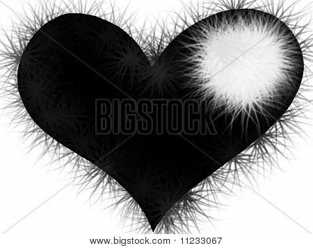 Black Spiked Heart