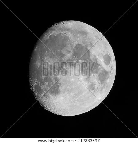 Moon on clear night
