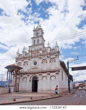 Cuenca, Ecuador - November 27, 2015: Church On The River In The