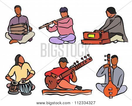 Indian Musician Set