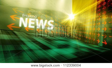 Graphical Modern Digital World News Background I