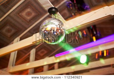 Mirror Ball Rolling In The Night Club