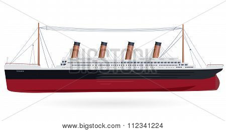 Big boat Titanic - legendary colossal ship