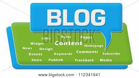 Blog Comment Symbol Block