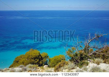 Blue Waters of Kokkinos Vrachos Beach, Lefkada