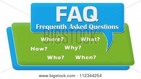 FAQ Questions Comment Symbol Block