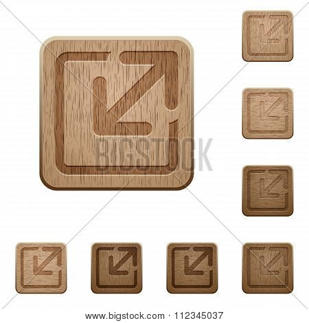 Resize Element Wooden Buttons