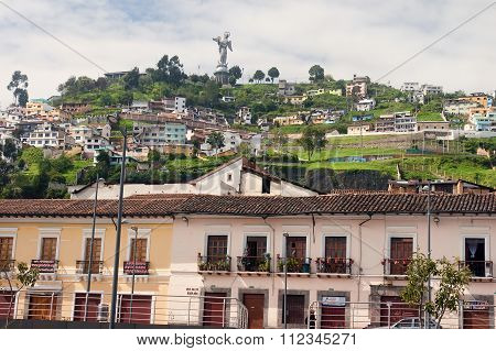 Quito, Ecuador - November 25, 2015: Virgin Of Quito Statue On 25