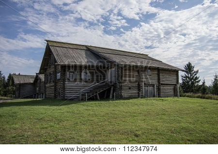 Traditional Russian House On The Island Of Kizhi,karelia