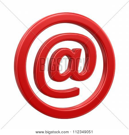 3d e-mail sign. Image with clipping path