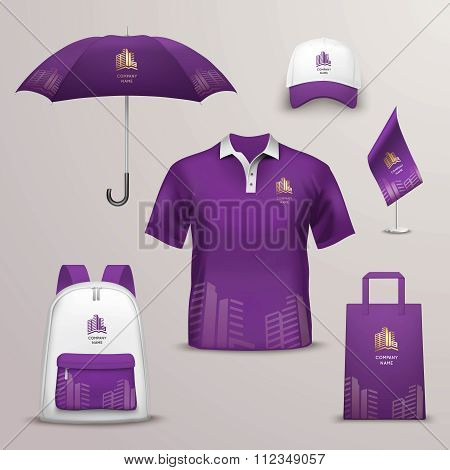 Promotional Souvenirs Design Icons For Corporate Identity