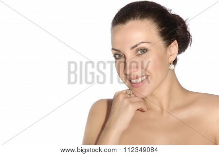 Portrait Of A Smiling Girl With Well-groomed Skin