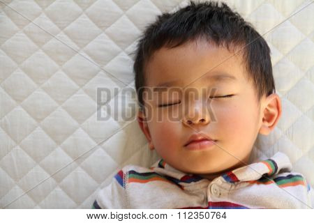 Sleeping Japanese boy (2 years old)