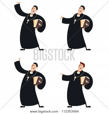 Set Of Catholic Priests