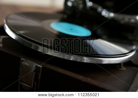 Record player closeup