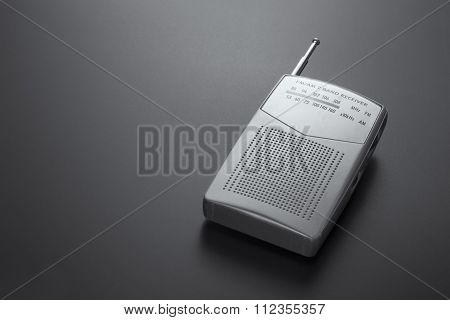 Radio Receiver Gray Isolated On A Dark Background