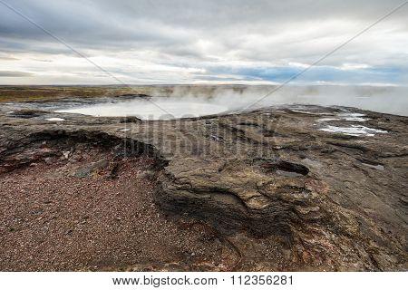 Geothermal icelandic geysir