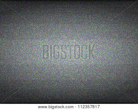 TV noise seamless vector texture. No signal and error concept