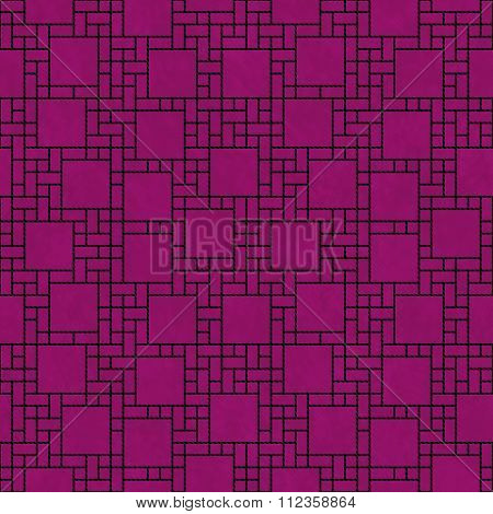 Black And Pink Square Abstract Geometric Design Tile Pattern Repeat Background