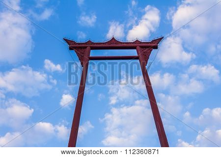 The Giant Swing With Blue Sky And Cloud
